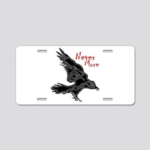 Raven Aluminum License Plate