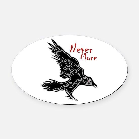 Raven Oval Car Magnet