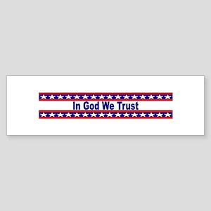 In God stripes Bumper Sticker