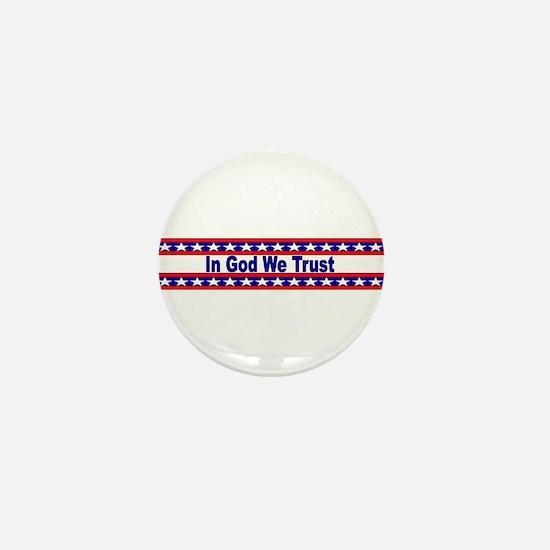 In God stripes Mini Button