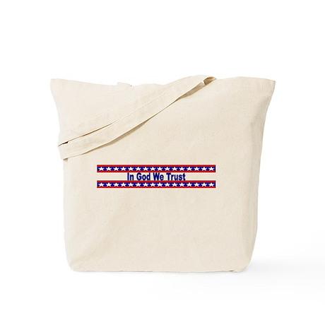 In God stripes Tote Bag