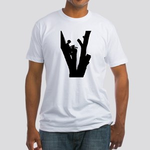 Tree Cutter Fitted T-Shirt