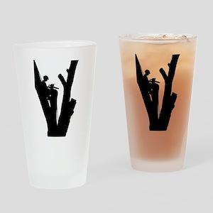 Tree Cutter Drinking Glass