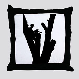 Tree Cutter Throw Pillow