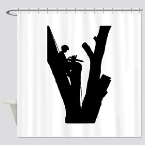 Tree Cutter Shower Curtain