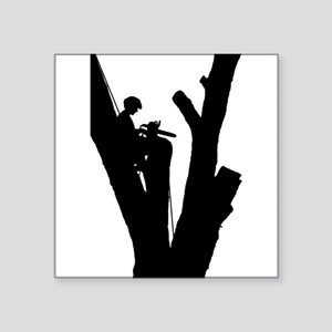 "Tree Cutter Square Sticker 3"" x 3"""