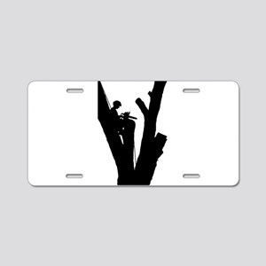 Tree Cutter Aluminum License Plate