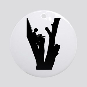 Tree Cutter Ornament (Round)