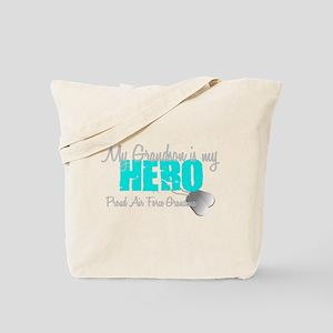 AF Grandma grandson my hero Tote Bag