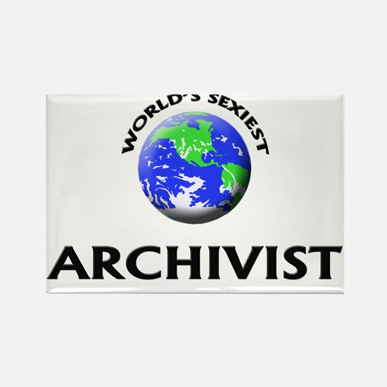 World's Sexiest Archivist Rectangle Magnet
