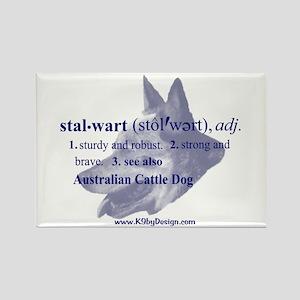 Stalwart--Australian Cattle D Rectangle Magnet