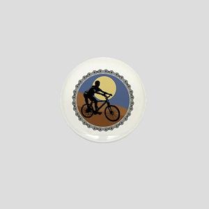 Mountain Bike Chain Design Mini Button