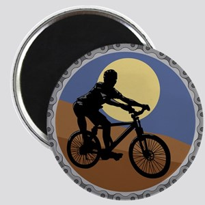 Mountain Bike Chain Design Magnet
