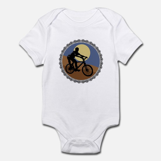 Mountain Bike Chain Design Infant Bodysuit