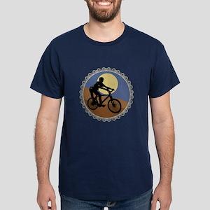 Mountain Bike Chain Design Dark T-Shirt