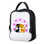 Kitty Cat Love Neoprene Lunch Bag