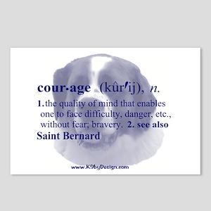Courage--Saint Bernard Postcards (Package of 8)