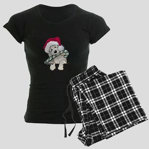 Candycane Cutie Pocket Doodle Women's Dark Pajamas