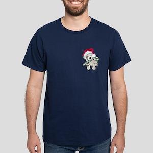 Candycane Cutie Pocket Doodle Dark T-Shirt