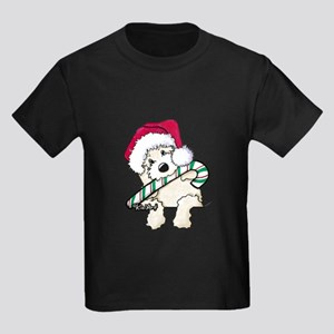 Candycane Cutie Pocket Doodle Kids Dark T-Shirt