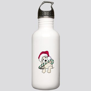 Candycane Cutie Pocket Doodle Stainless Water Bott