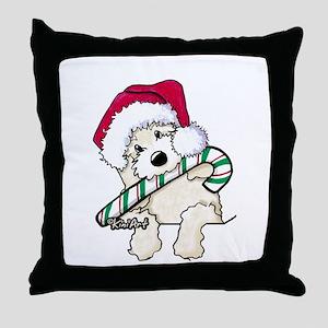 Candycane Cutie Pocket Doodle Throw Pillow