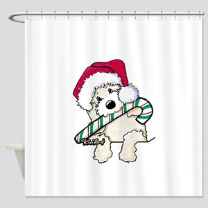 Candycane Cutie Pocket Doodle Shower Curtain