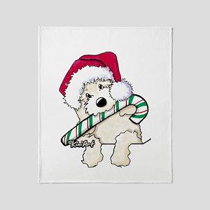 Candycane Cutie Pocket Doodle Throw Blanket