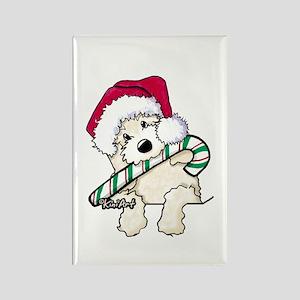 Candycane Cutie Pocket Doodle Rectangle Magnet