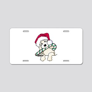 Candycane Cutie Pocket Doodle Aluminum License Pla