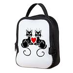 Black Cat Love Neoprene Lunch Bag