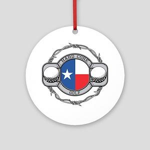 Texas Golf Ornament (Round)