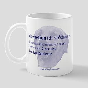 Devotion--Golden Retriever Mug