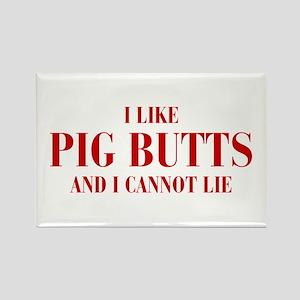 I-like-pig-butts-bod-brown Rectangle Magnet