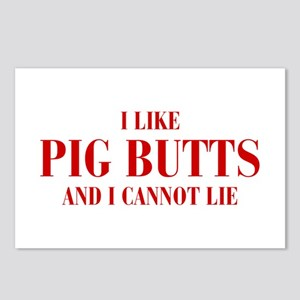 I-like-pig-butts-bod-brown Postcards (Package of 8