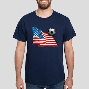 U.S. Soccer Flag Dark T-Shirt
