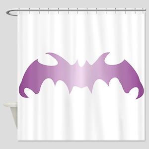 Purple Bat Shower Curtain