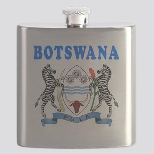 Botswana Coat Of Arms Designs Flask