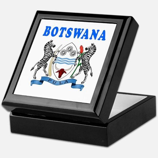 Botswana Coat Of Arms Designs Keepsake Box