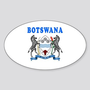 Botswana Coat Of Arms Designs Sticker (Oval)