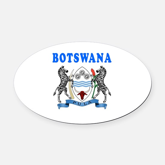Botswana Coat Of Arms Designs Oval Car Magnet