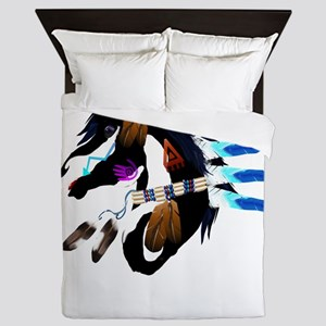 Spiritual Horse-no shield Queen Duvet