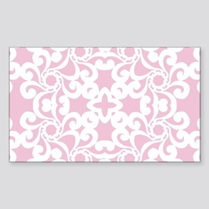 Baby Pink & White Lace Tile Sticker (Rectangle)