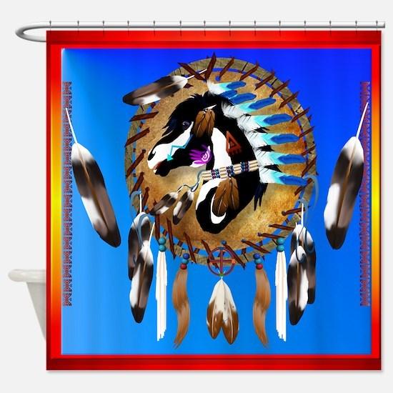 Spiritual Horse Shower Curtain