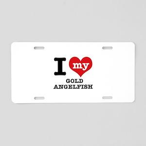 I love my Gold Angelfish Aluminum License Plate