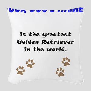 Greatest Golden Retriever In The World Woven Throw
