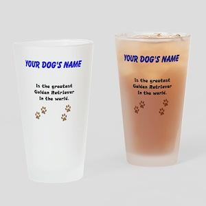 Greatest Golden Retriever In The World Drinking Gl