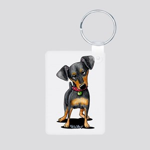 Min Pin Aluminum Photo Keychain