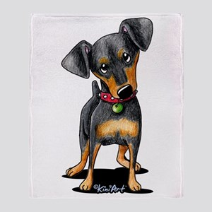 Min Pin Throw Blanket
