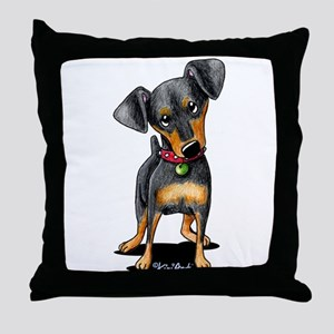 Min Pin Throw Pillow